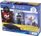 Sony PlayStation 4 500 ГБ + Horizon Zero Dawn + Gran Turismo Sport + Uncharted 4 + PS Plus 3мес